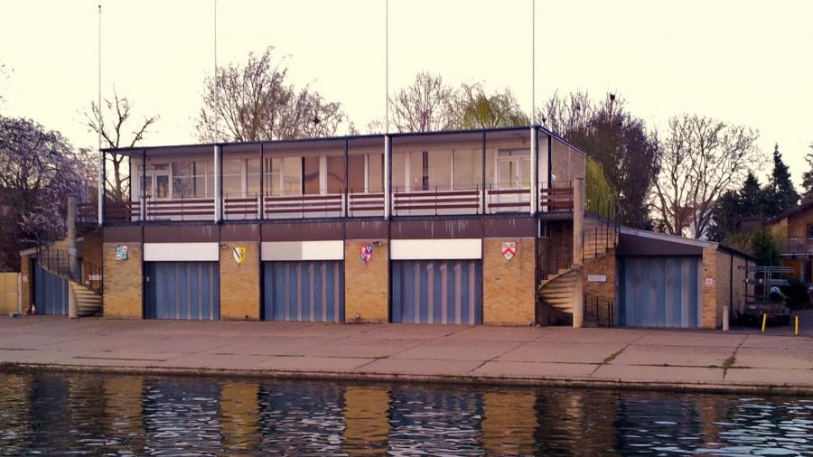 Wolfson College Boat Club's shared boat house