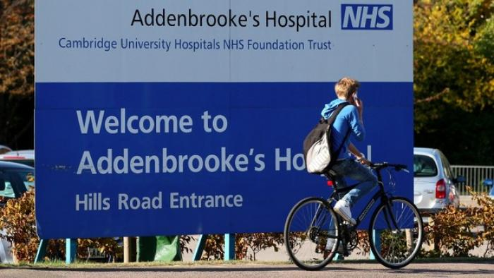 Addenbrookes hospital person on bike