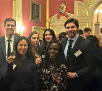 Alumni at the Wolfson in London Reception in 2020